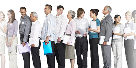 job-applicants-waiting-in-line-to-interview